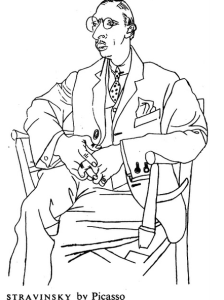 Stravinsky, by Picasso